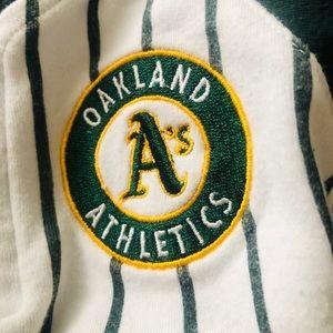 Oakland A's baseball onesie